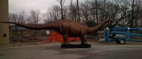 Dinosaur, I guess, outside the Creationist Museum