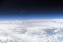 The earth's atmosphere, as photographed from the International Space Station. (Credit: ISS/NASA)