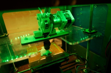 A 3D printer in action. (Credit: Keith Kissel, released under CC BY 2.0, via Flickr)