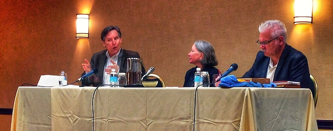 The STEM education panel, with me at left beside Linda W. Braun and Mark Hatch. (Photo: Steve Chapman)